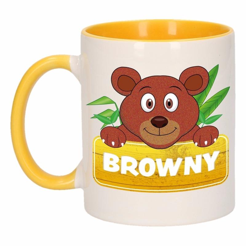 Dieren mok /beren beker Browny 300 ml