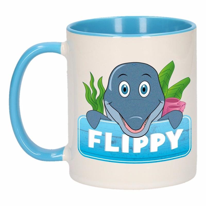 Dieren mok /dolfijnen beker Flippy 300 ml