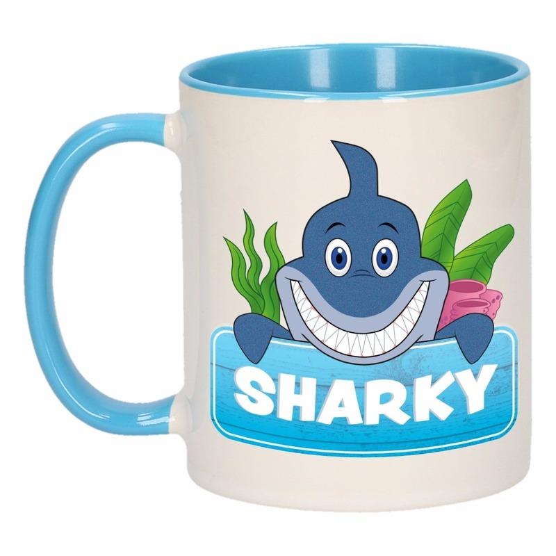 Dieren mok /haaien beker Sharky 300 ml
