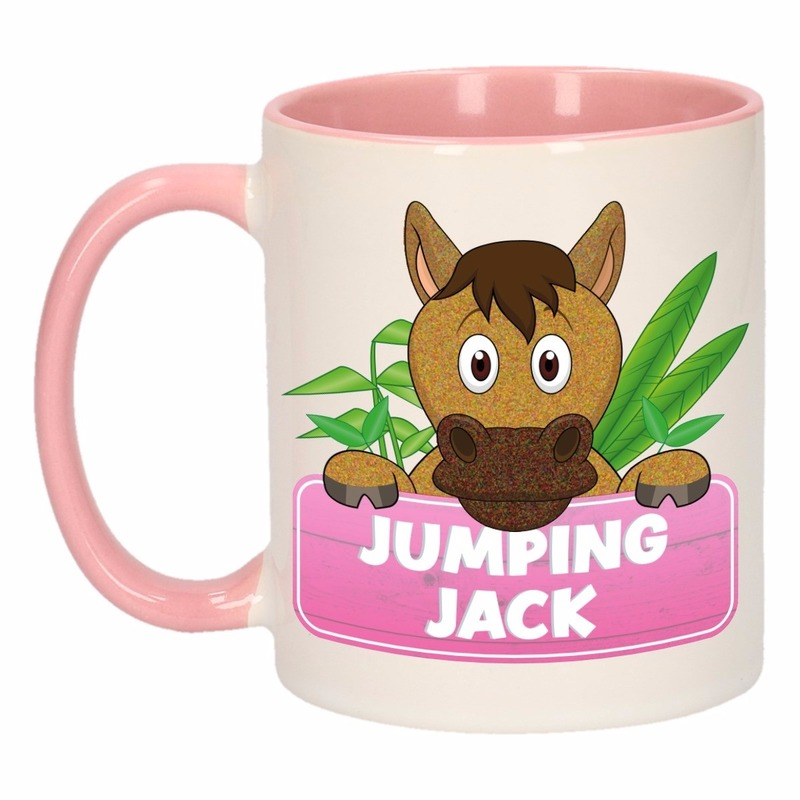 Dieren mok /paarden beker Jumping Jack 300 ml