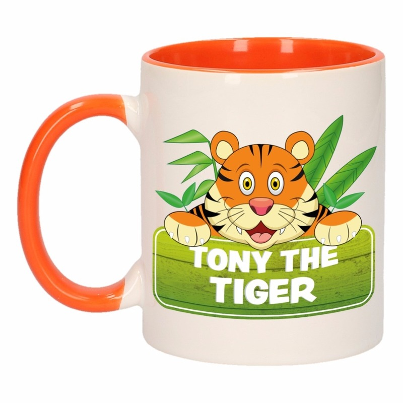 Dieren mok /tijger beker Tony the Tiger 300 ml
