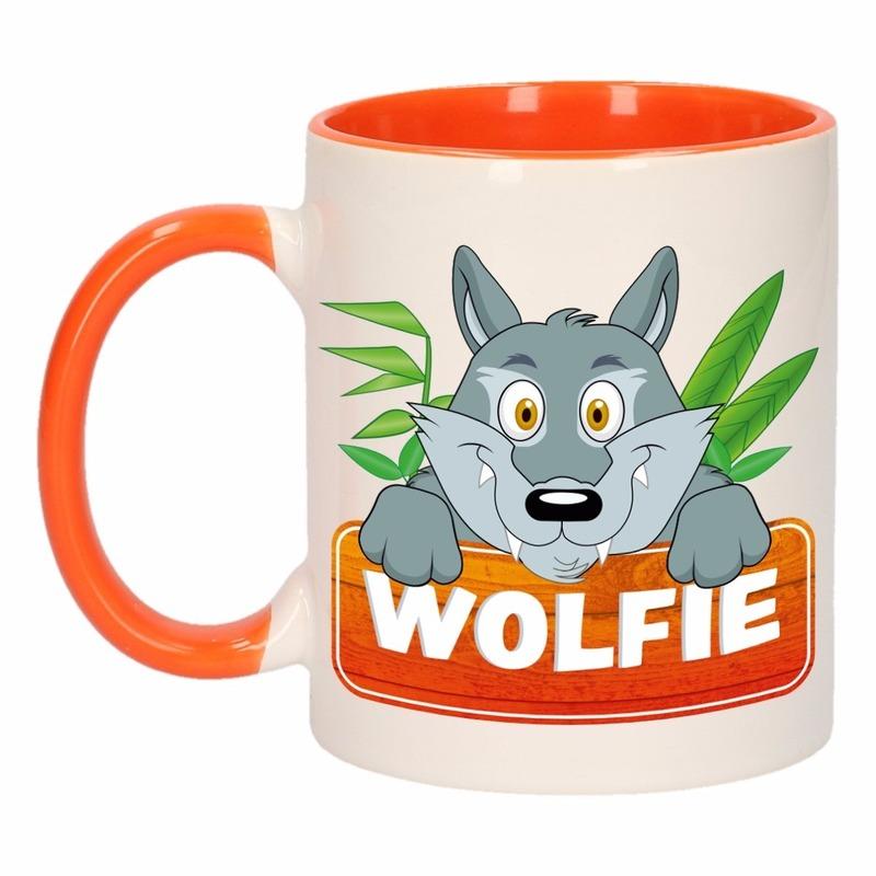 Dieren mok /wolven beker Wolfie 300 ml