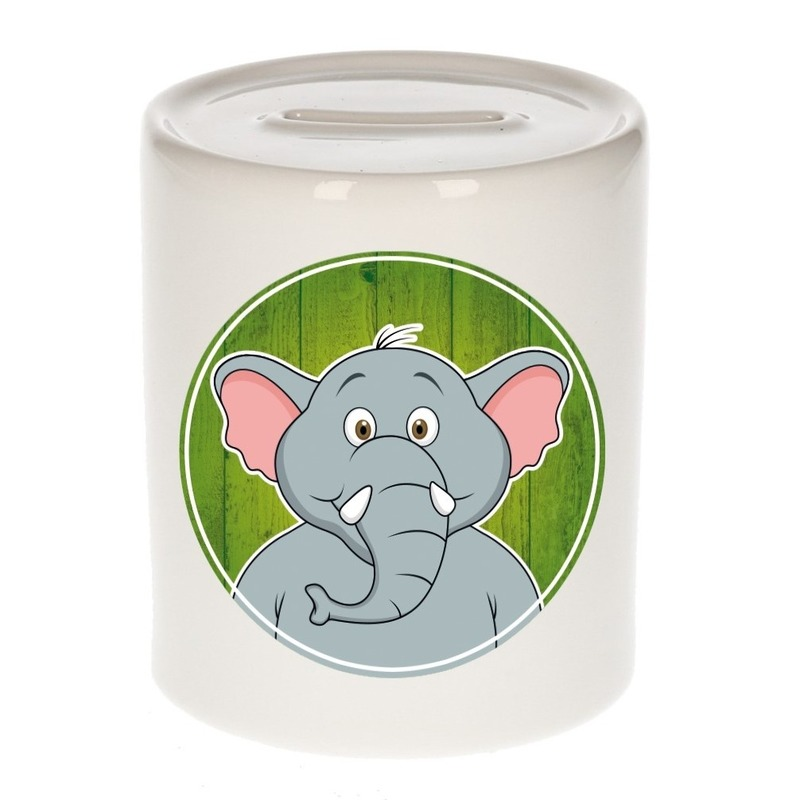Dieren spaarpot olifant voor kinderen 9 cm