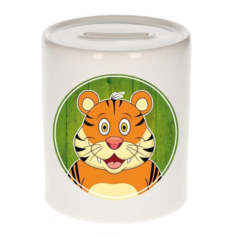 Dieren spaarpot tijger voor kinderen 9 cm