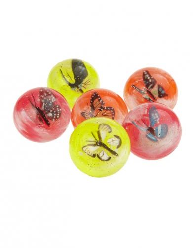 Dieren stuiterballen met vlinders van 4,5 cm