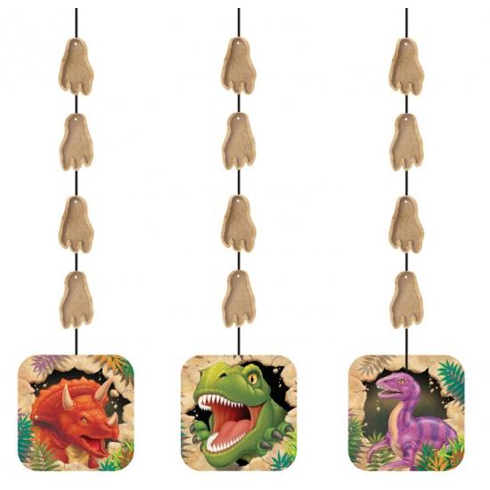 Dinosaurus feest thema hangdecoraties 3x stuks