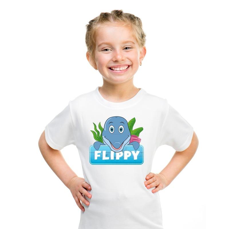 Dolfijnen dieren t-shirt wit voor kinderen