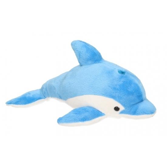 Dolfijnen knuffel blauw 33 cm