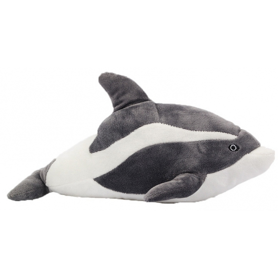 Dolfijnen knuffeltje grijs 35 cm