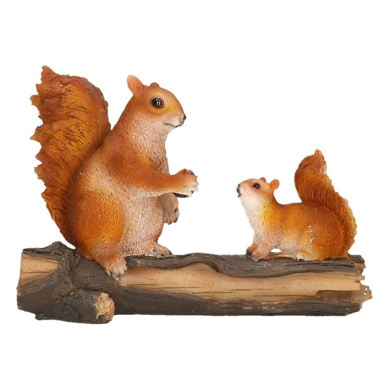 Eekhoorn beeldje van polyresin 24 x 10 x 18 cm