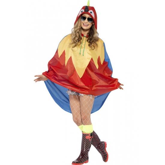 Festival regenponcho papegaai