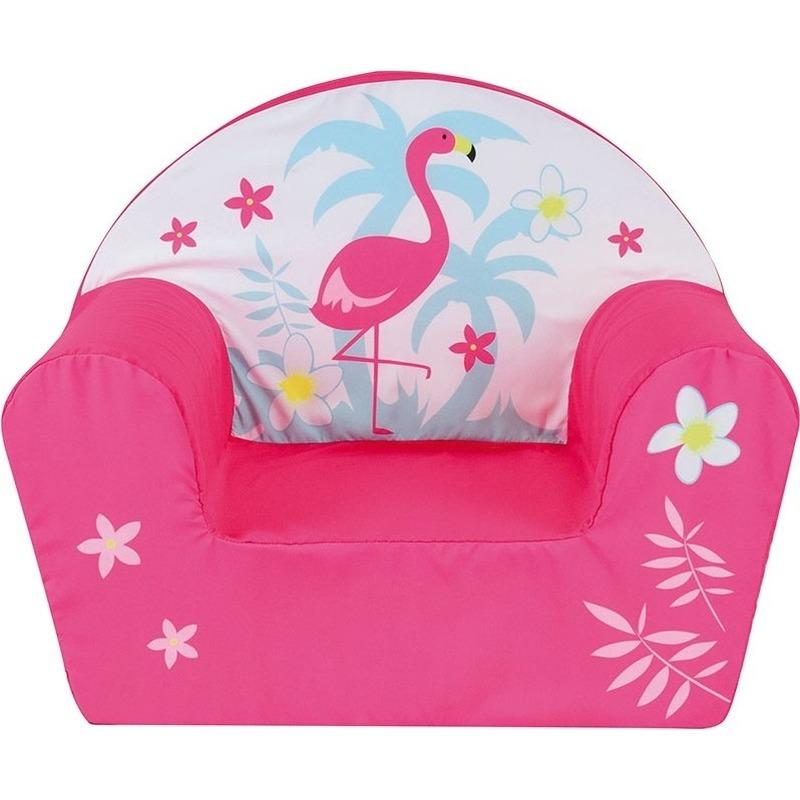 Flamingo stoel/fauteuil 33 x 52 x 42 cm voor kinderen kinderkamermeubels