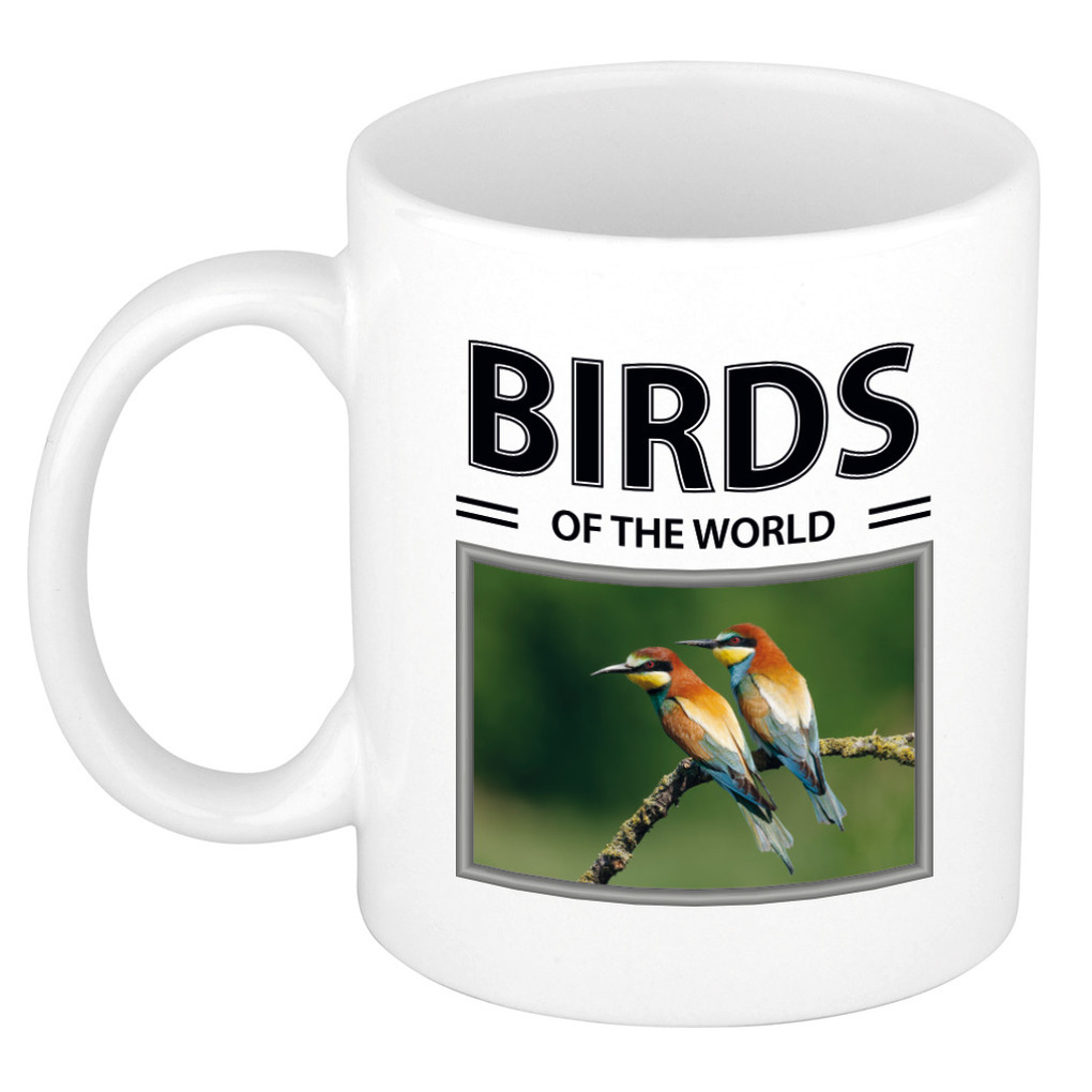 Foto mok Bijeneter beker - birds of the world cadeau Bijeneter vogels liefhebber