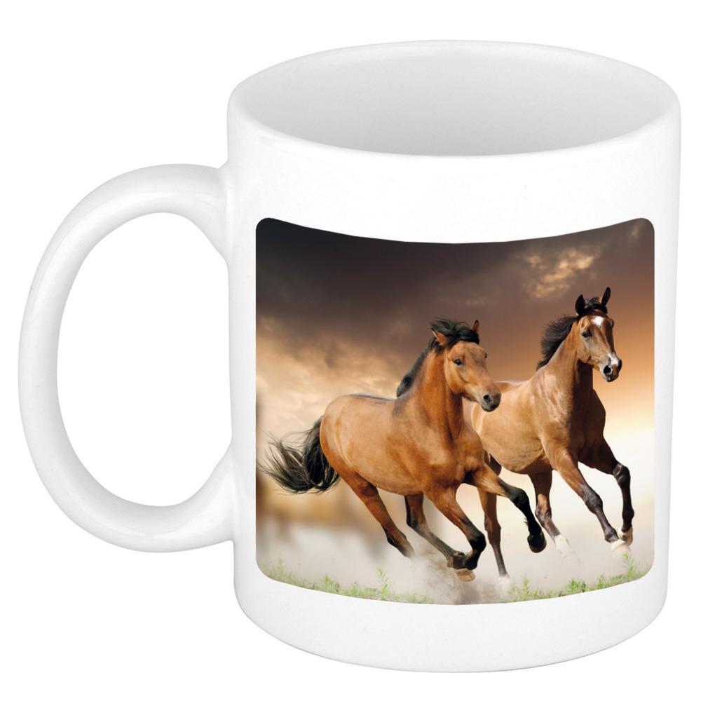 Foto mok bruin paard mok / beker 300 ml - Cadeau paarden liefhebber