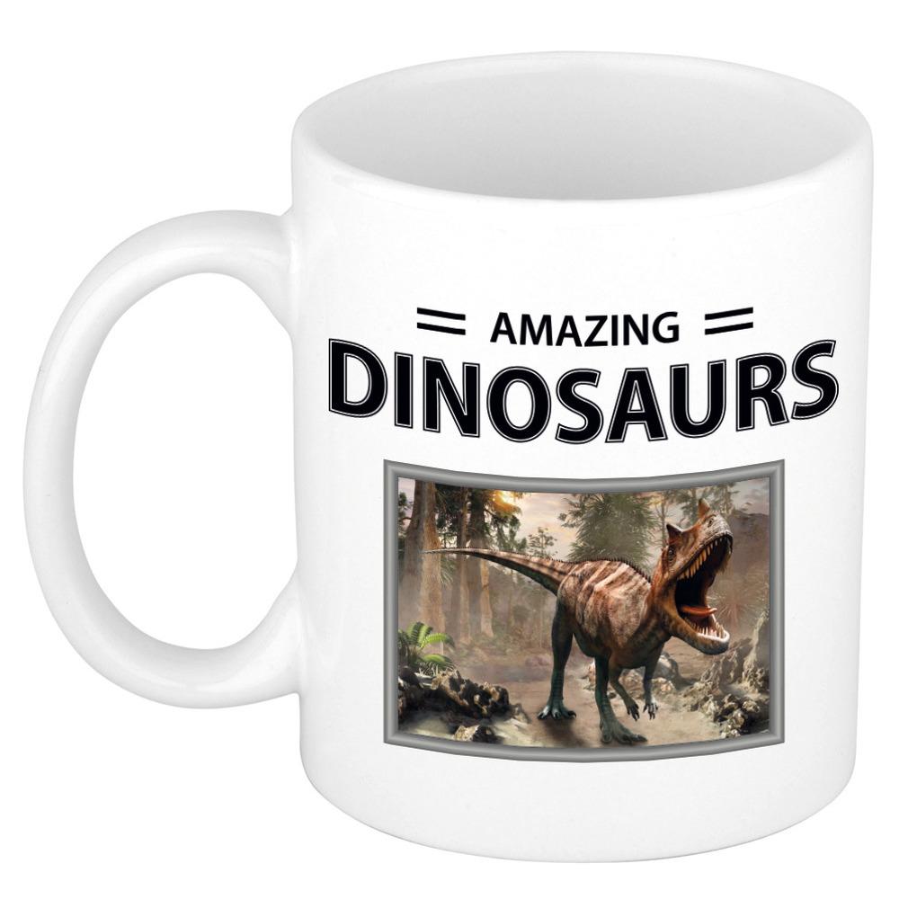 Foto mok Carnotaurus dino beker - amazing dinosaurs cadeau dinosaurus liefhebber