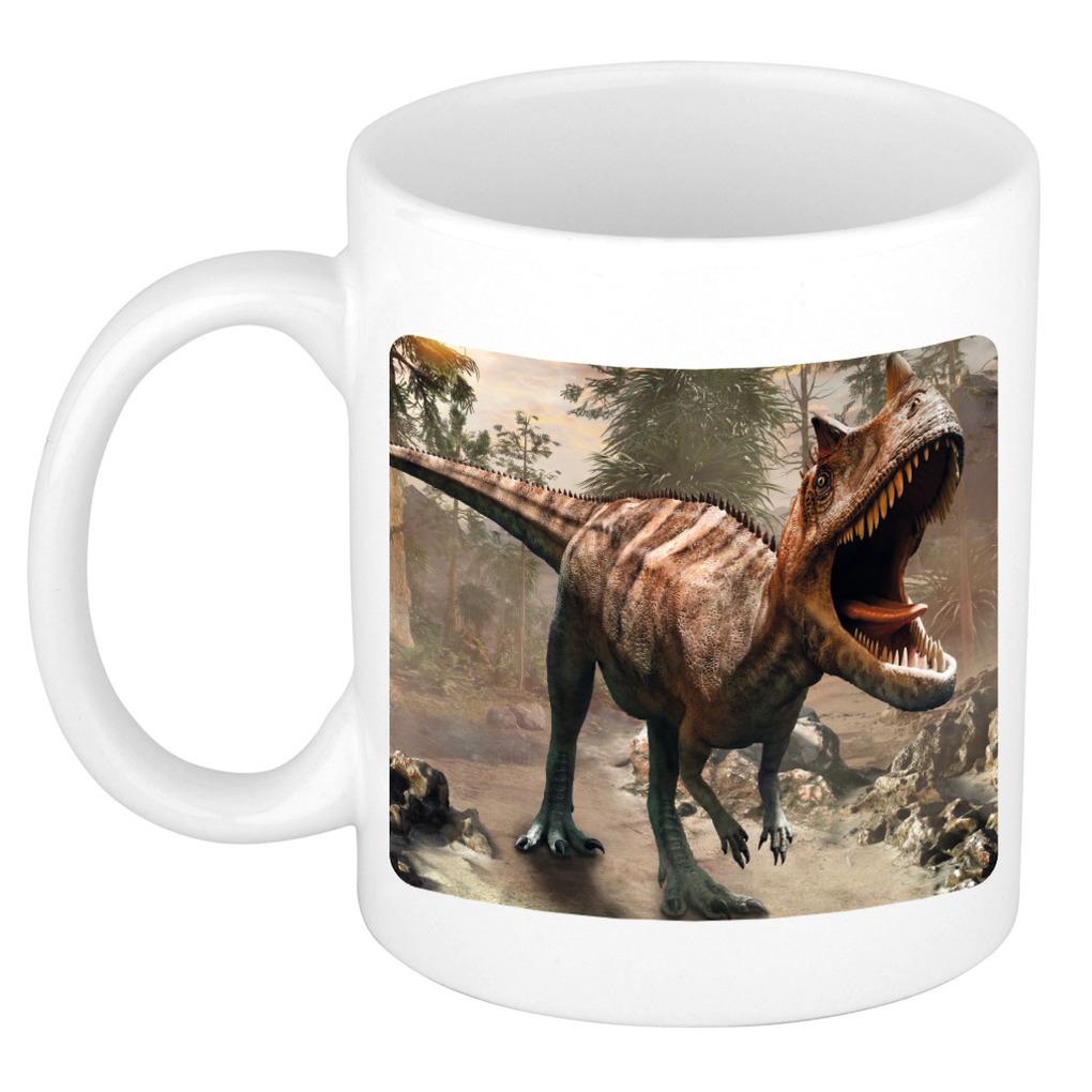 Foto mok carnotaurus dinosaurus mok / beker 300 ml - Cadeau dinosaurussen liefhebber