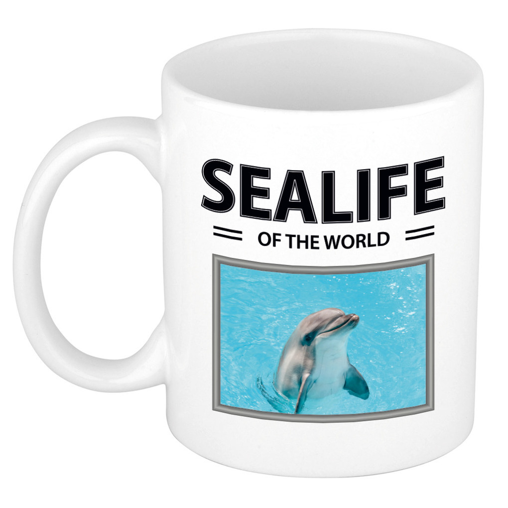Foto mok Dolfijn beker - sealife of the world cadeau Dolfijnen liefhebber