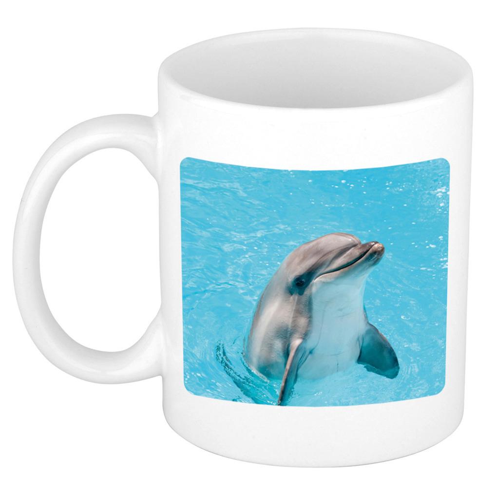Foto mok dolfijn mok - beker 300 ml - Cadeau dolfijnen liefhebber