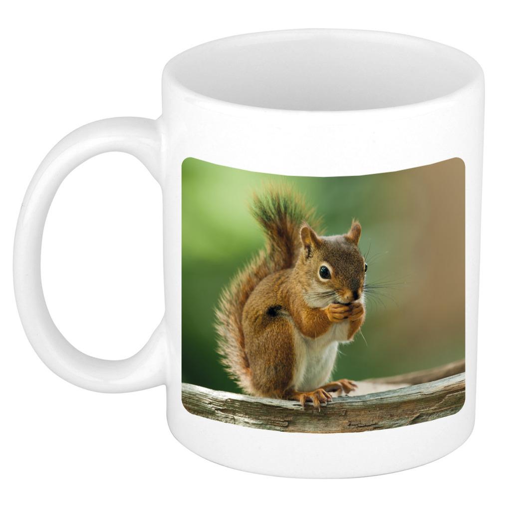 Foto mok eekhoorn mok / beker 300 ml - Cadeau eekhoorns liefhebber
