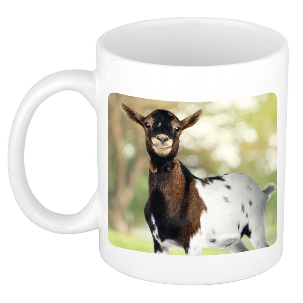 Foto mok gevlekte geit mok / beker 300 ml - Cadeau geiten liefhebber