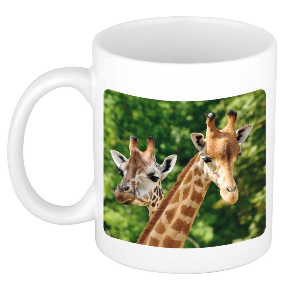 Foto mok giraffe mok / beker 300 ml - Cadeau giraffen liefhebber
