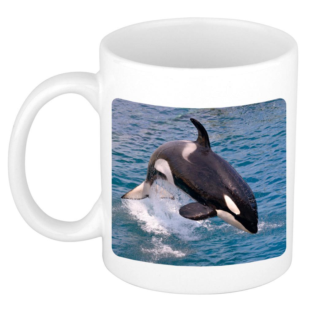 Foto mok grote orka mok - beker 300 ml - Cadeau orka walvissen liefhebber