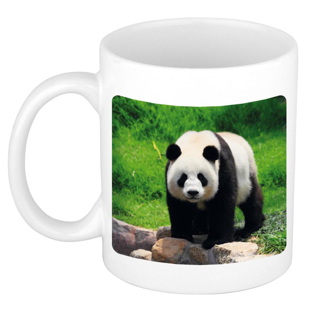 Foto mok grote panda mok - beker 300 ml - Cadeau pandaberen liefhebber