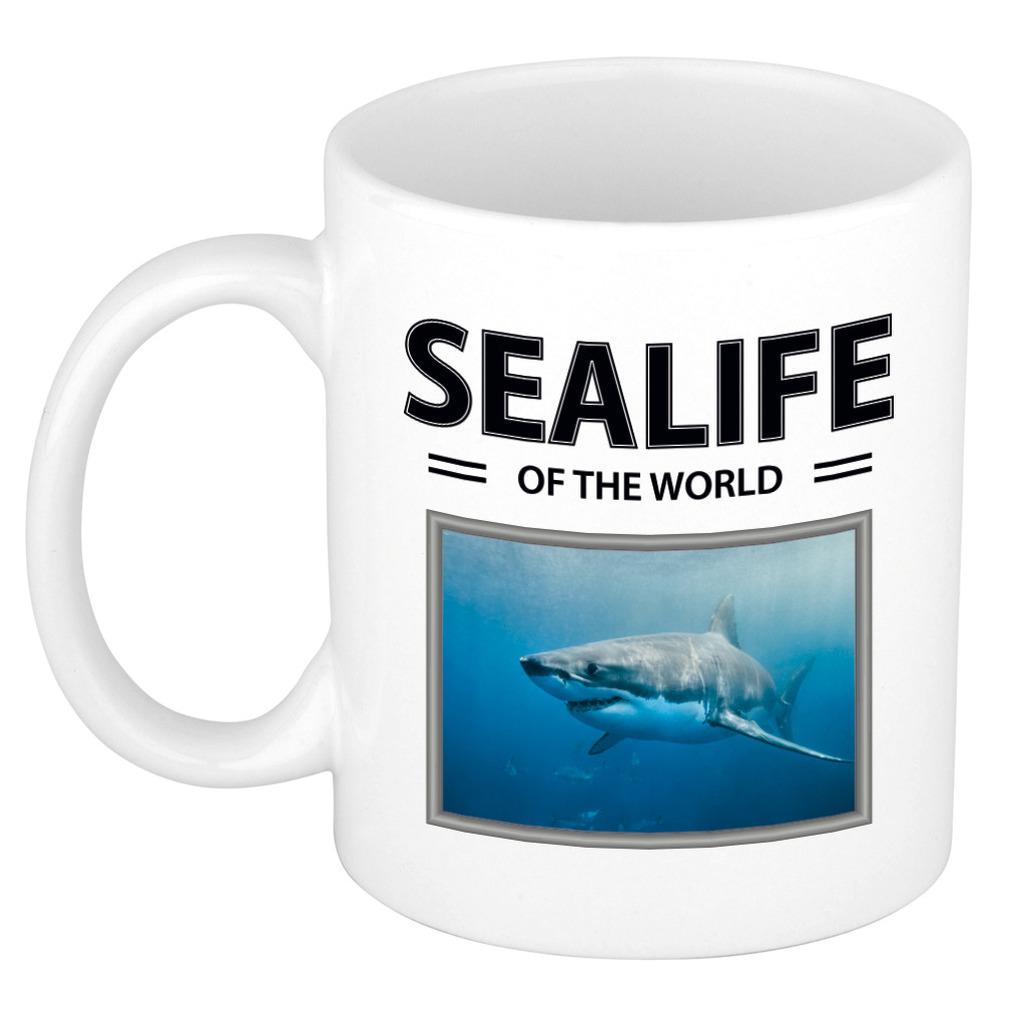 Foto mok Haai beker - sealife of the world cadeau Haaien liefhebber