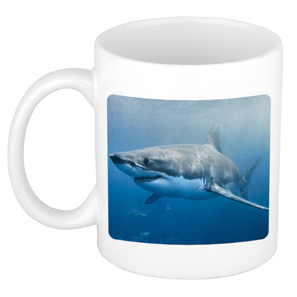 Foto mok haai mok - beker 300 ml - Cadeau haaien liefhebber