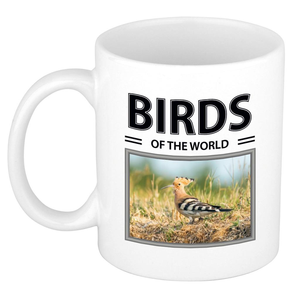 Foto mok Hop beker - birds of the world cadeau Hop vogels liefhebber