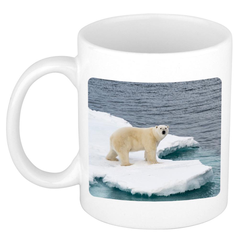 Foto mok ijsbeer mok / beker 300 ml - Cadeau ijsberen liefhebber