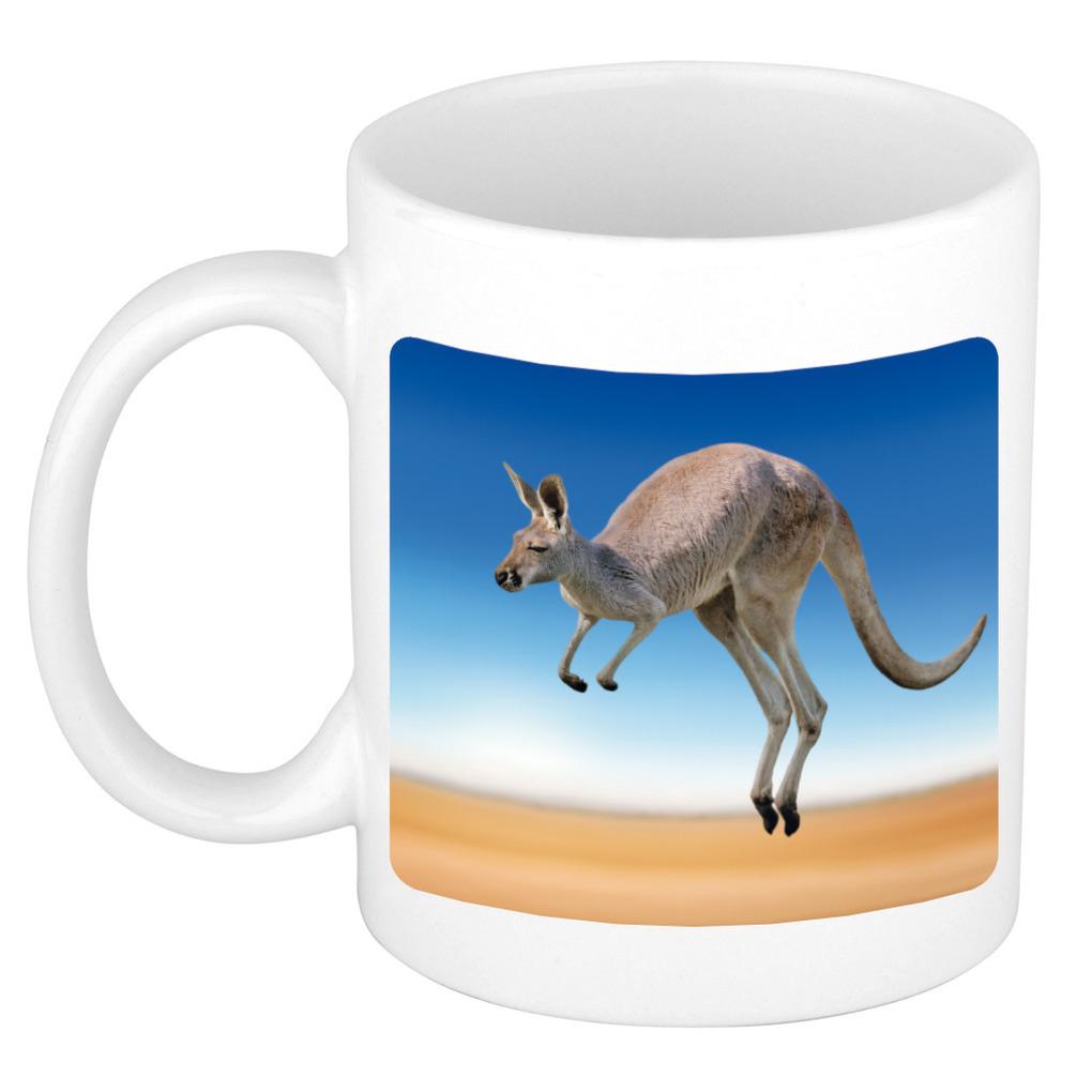 Foto mok kangoeroe mok - beker 300 ml - Cadeau kangoeroes liefhebber