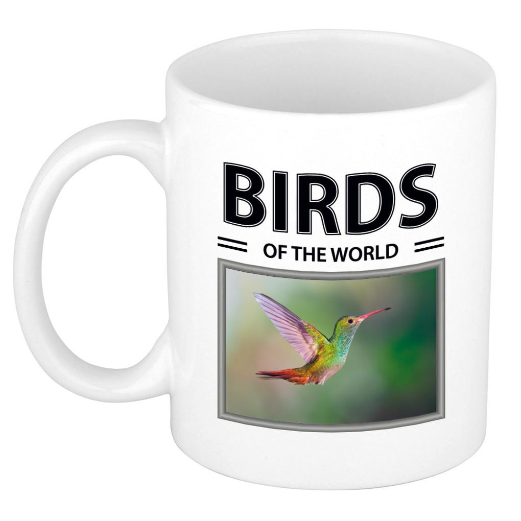 Foto mok Kolibrie beker - birds of the world cadeau Kolibries liefhebber
