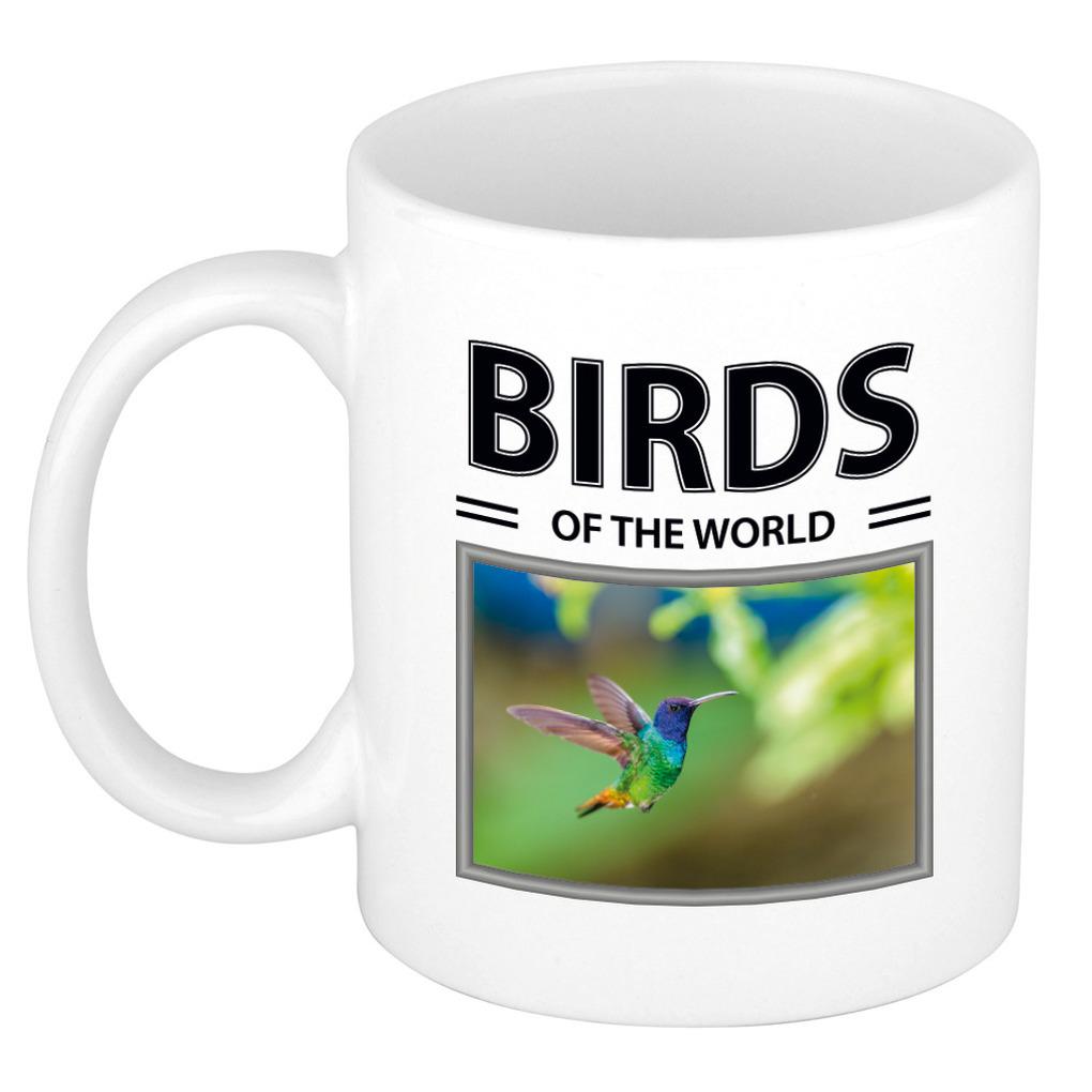 Foto mok Kolibrie vogel beker - birds of the world cadeau Kolibries liefhebber