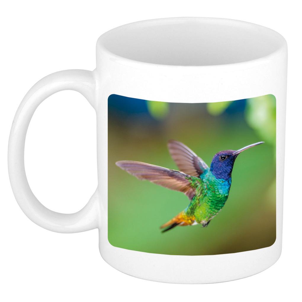 Foto mok kolibrie vogel mok / beker 300 ml - Cadeau vogels liefhebber