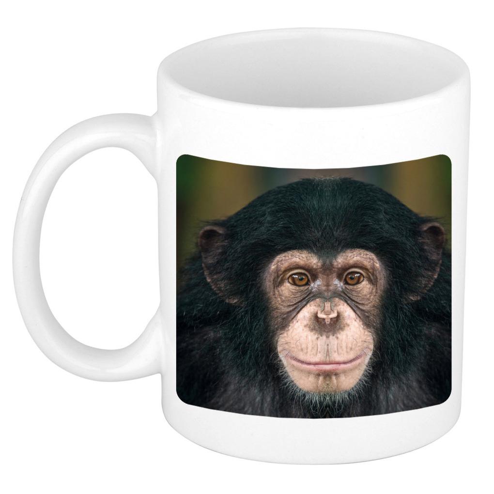 Foto mok leuke chimpansee mok / beker 300 ml - Cadeau apen liefhebber