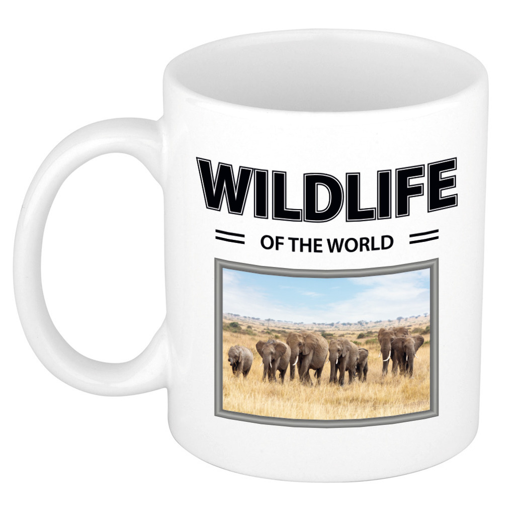 Foto mok Olifant mok - beker - wildlife of the world cadeau Olifanten liefhebber