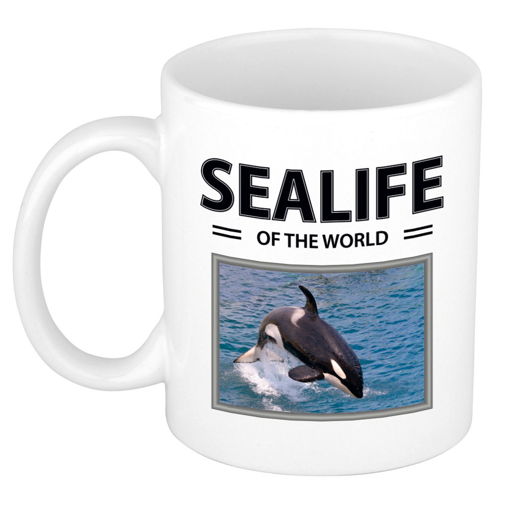 Foto mok Orka beker - sealife of the world cadeau zwaardwalvis liefhebber