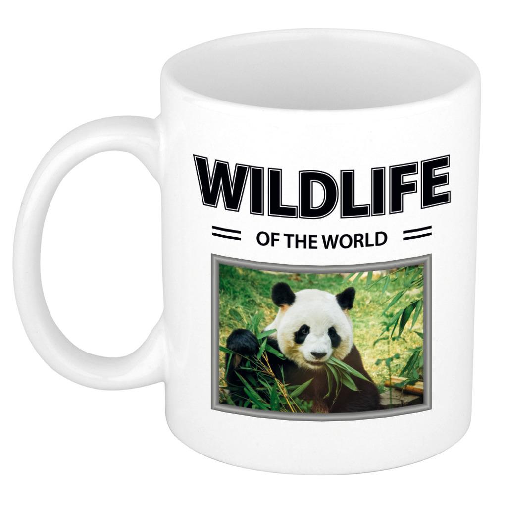 Foto mok Panda mok - beker - wildlife of the world cadeau Pandas liefhebber