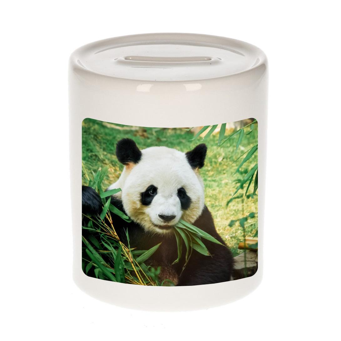 Afbeelding Foto mok panda spaarpot 9 cm - Cadeau pandaberen liefhebber door Animals Giftshop