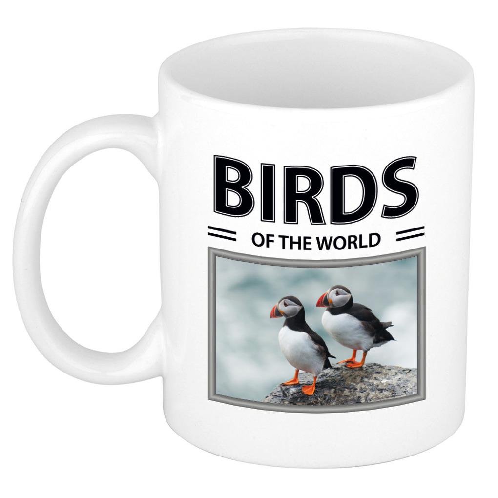 Foto mok Papegaaiduiker beker - birds of the world cadeau Papegaaiduikers liefhebber