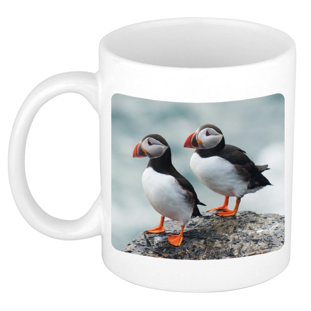 Foto mok papegaaiduiker vogel mok / beker 300 ml - Cadeau vogels liefhebber