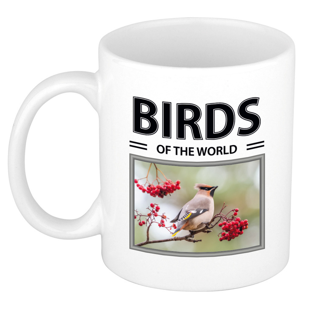 Foto mok Pestvogel beker - birds of the world cadeau Pestvogels liefhebber
