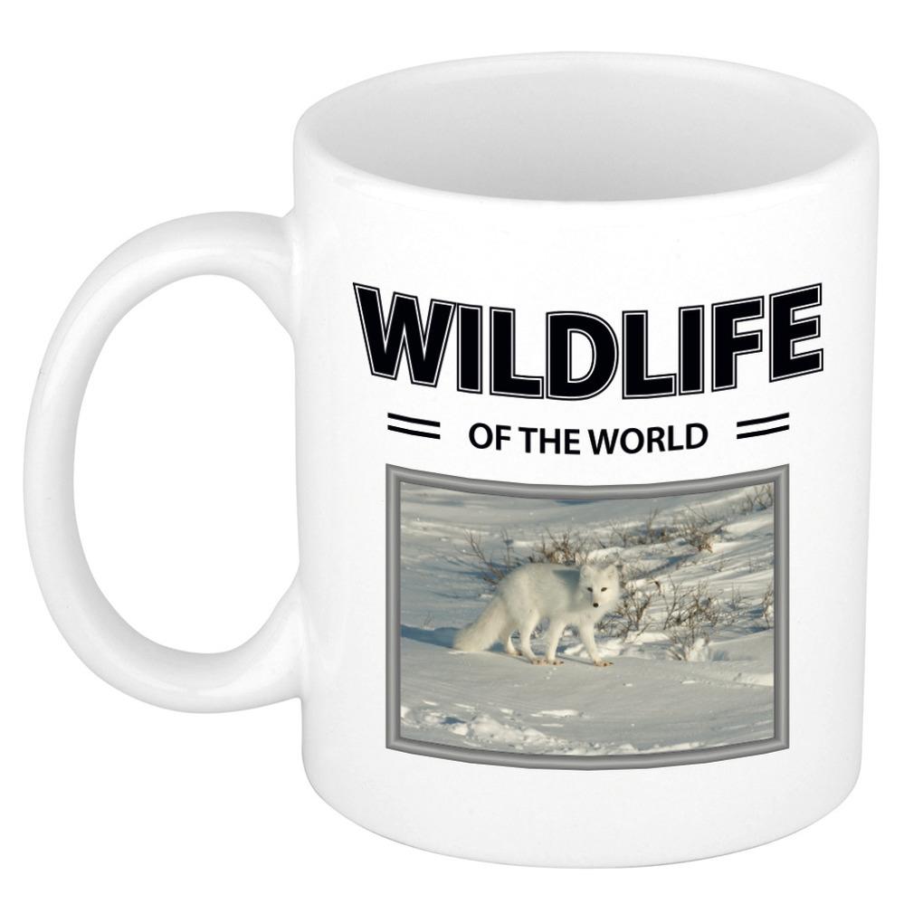 Foto mok Sneeuwvos mok - beker - wildlife of the world cadeau Sneeuwvossen liefhebber