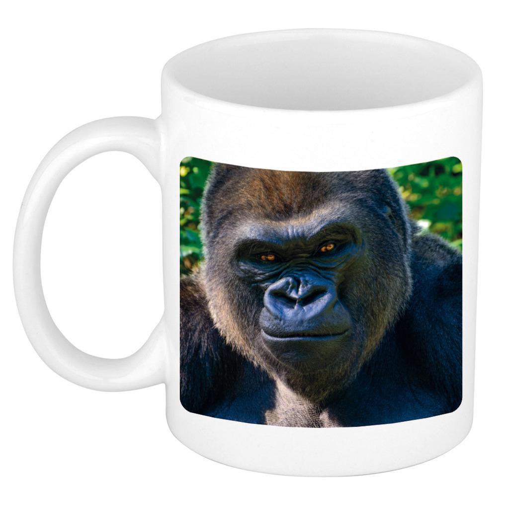Foto mok stoere gorilla mok / beker 300 ml - Cadeau gorilla apen liefhebber