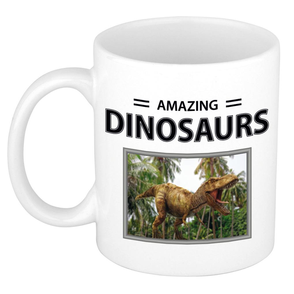 Foto mok T-rex dino beker - amazing dinosaurs cadeau tyrannosaurus rex dinosaurus liefhebber