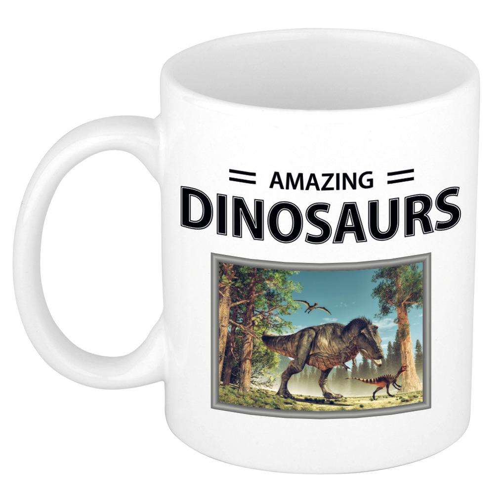 Foto mok T-rex dino beker - cadeau tyrannosaurus rex dinosaurus liefhebber