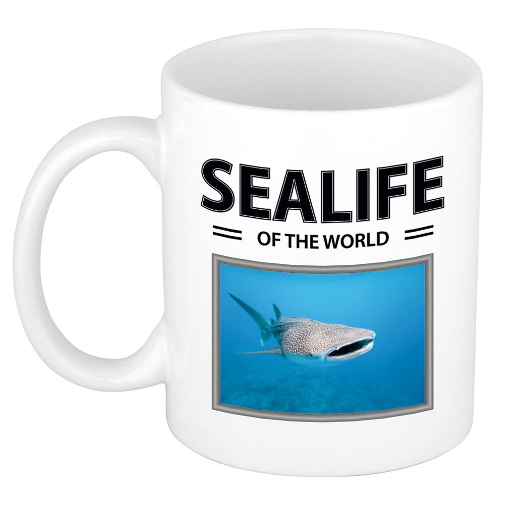 Afbeelding Foto mok Tijgerhaai beker - sealife of the world cadeau Haaien liefhebber door Animals Giftshop