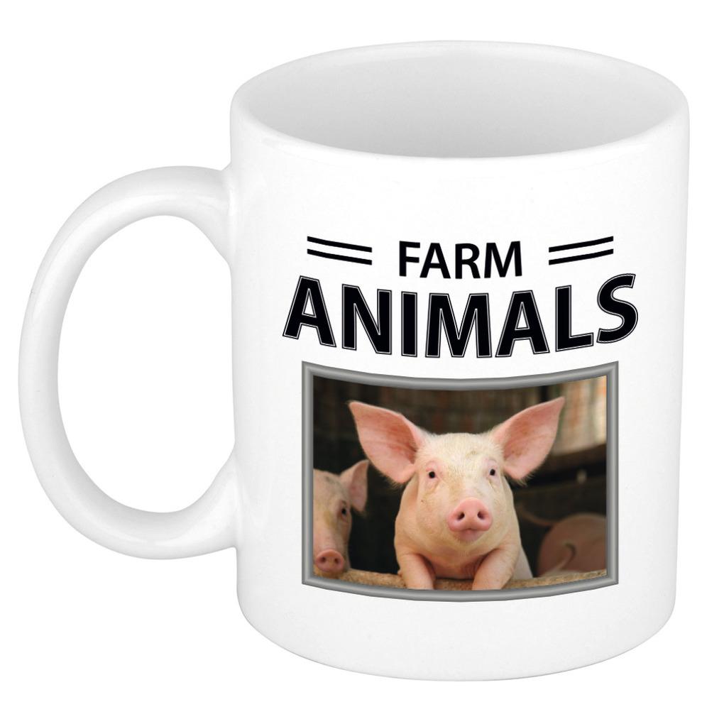 Foto mok Varken beker - farm animals cadeau Varkens liefhebber