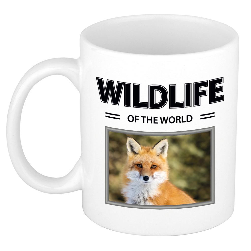 Foto mok Vos mok - beker - wildlife of the world cadeau Vossen liefhebber
